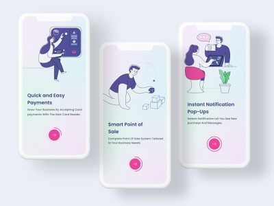 Clay Model Onboarding with illustrations colors vintage classic mobile application ux design app interaction clean payment saas 2d 3d illustrations walkthrough onboarding ux uiux ui design iphone clay
