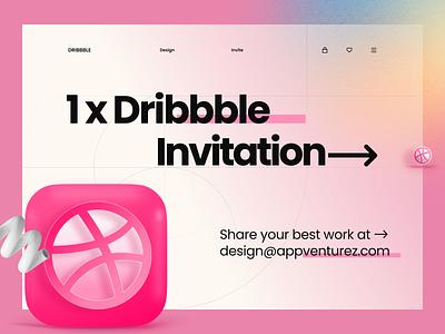 Dribbble invitation design branding illustration ui ux vector logo flat typography minimal art invite invitation 1xinvite inspiration news designer interaction