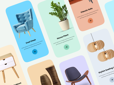 Decoration Items Walkthrough decorations mobileapps app mobileapp interface iphone clean minimal ux uiux ui mobileappdesign smarthome home household decoration walkthrough