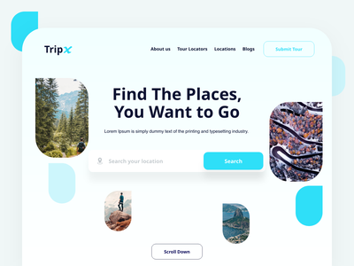 Tripx Trip Search UI trees nature green travel search trips places website webdesign trip uiux creative ui ux mobile application app interaction ux design app design ui design design