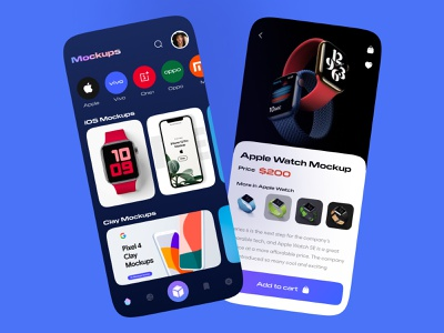 3D Mockups E-Commerce App UI 3d modeling e-commerce app mockups clean creative mobile application app interaction app design ux design ui design iphonex mobile app mobileapp design ux uiux ui 3d