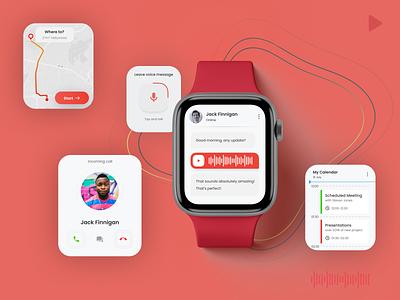 Apple Watch UI Design apple watch ux watch ux apple watch ui watch ui watch design apple watch ui mobile application app interaction ux design ui design design app design