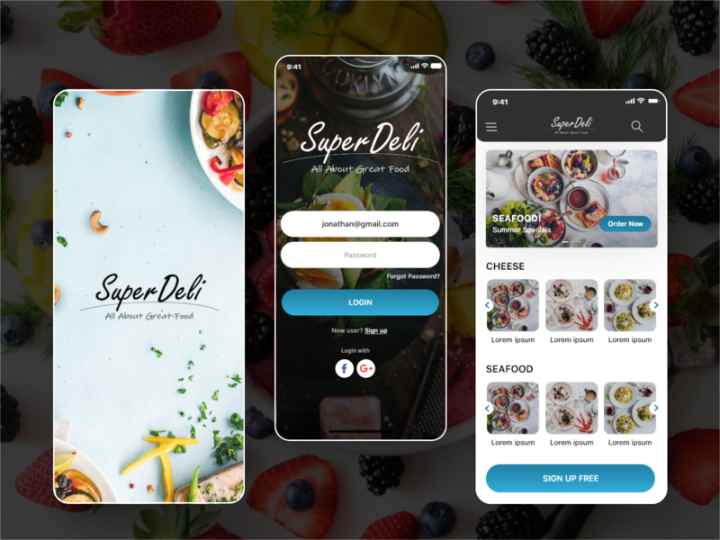 SuperDeli ux  ui ui design mobile application design uidesign food online shop grocery