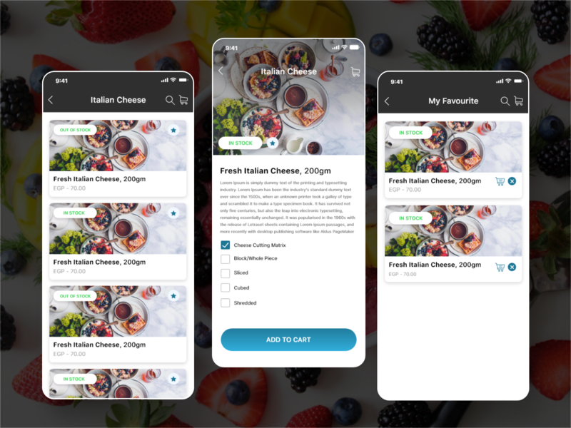 SuperDeli online store online food app design food concept art app interaction ui design