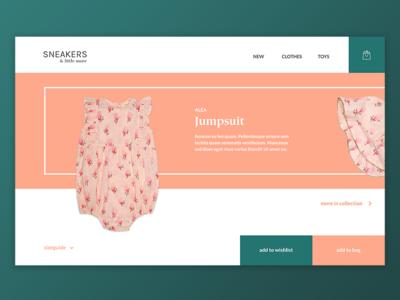 Shop online ui webdesign shop online