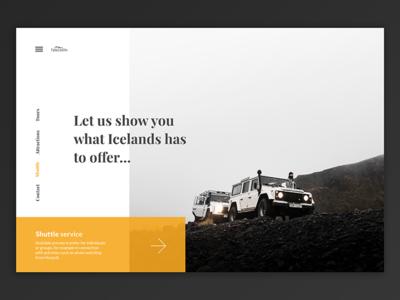 Icelandic Travel Agency travel agency travel iceland sketch webdesign