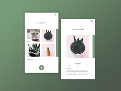 Plant app green plant design webdesign app