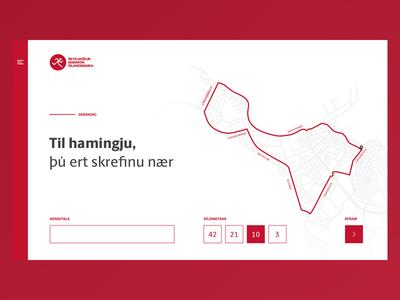 Registration for a marathon marathon ux ui iceland reykjavik signup map mapdesign webdesign