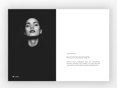 Black & White Portfolio web portfolio ux ui resume cw photographer black and white simple portfolio less is more website webdesign