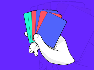card sorting - UX illustration procreate ux cards card hand