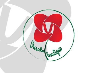 """Vusala boutique"" logo design illustration ui typography minimal icon dizayn design vector logo"
