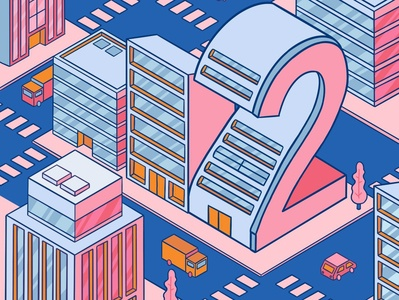 Number 2 36daysoftype typeface type isometric city isometric illustration isometric city illustration city 2 number 2 typography flat comicart cartoon minimal art graphic desgin vector illustration digitalart design