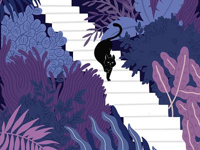 Flora and Fauna plants botanical botanical art botanicals night illustration botanical illustration flat minimal art comicart cartoon graphic desgin vector illustration digitalart design