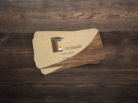 Egrounds Coffee Shop Business Cards