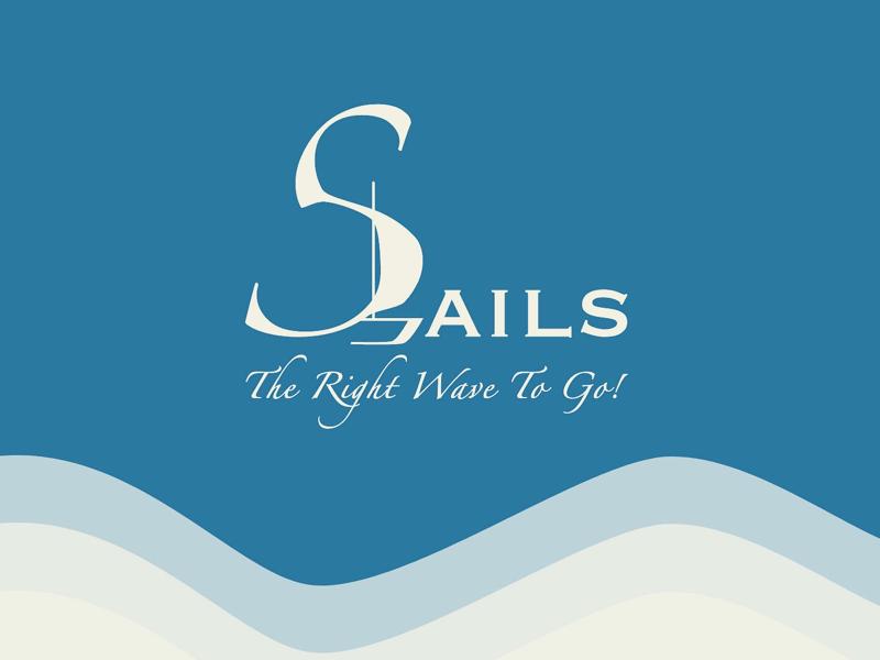 Sails Logo graphic design branding ui design typography logotype logomark logos