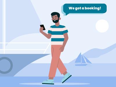 Enaviga app - booking ! design ui flat artwork adobe ilustrator illustraion onboarding illustration app graphic booking