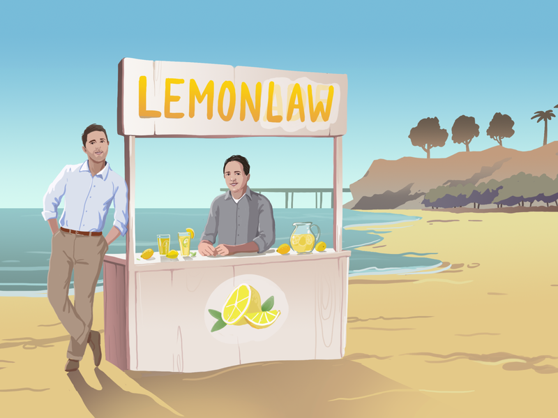 Lemon Law illustration design adobe photoshop flat illustration ui flat web illustration illustration adobe illustrator