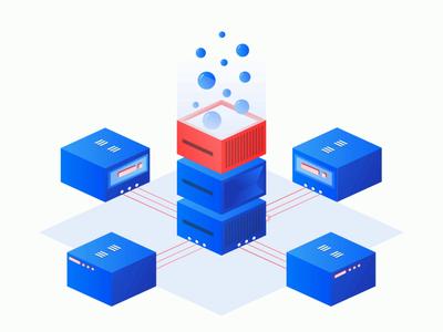 Networking isometric art isometric animation servers artwork logo web illustration flat illustration illustration adobe illustrator robust networking