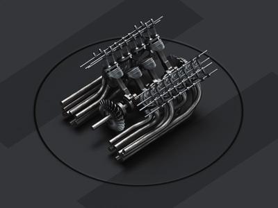Engine process octane cinema 4d c4d 3d art 3d engine animation