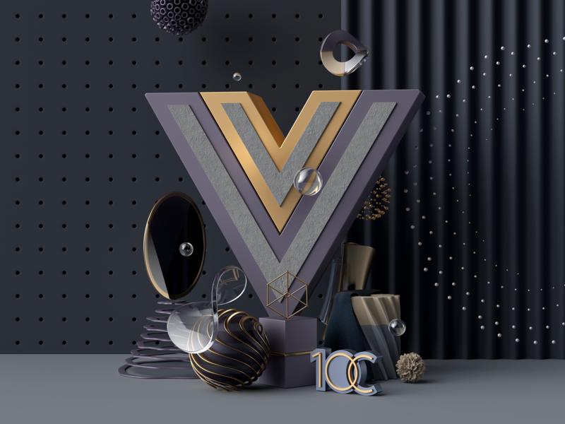 Vue.js development coronarender 10clouds vue.js abstract illustration cinema 4d c4d 3d