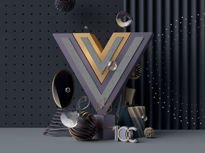 Vue.js development coronarender 10clouds vue.js abstract illustration cinema 4d c4d 3d