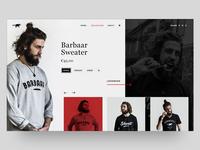 Barbaar & Schavuit UI concept design