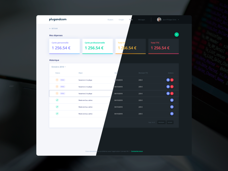 Expenses Dashboard form expenses light dark lightmode darkmode dashboard webdesign uiux ux ui