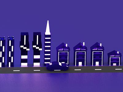 City lights glowing light digitalart street design building design isometric art 3d illustration ui branding uidesign illustration