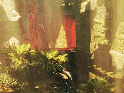 Temple in jungle megascans photogrammetry quixel 3d animation visualization 3d art blender3d 3d jungle temple