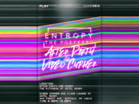 Entropy: The PoetExpo After Party Poster