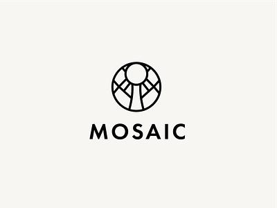 Mosaic 3 logotype branding design identity design brand identity brand design logo design vector logo design graphic design