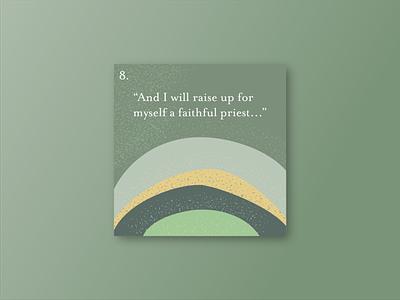 Card 8: Faithful series art series graphic vector illustration vector art illustration design vector