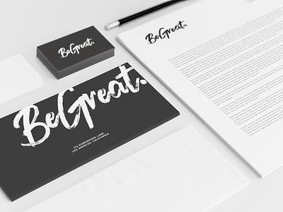 BeGreat Logo logotype branding design identity design brand identity brand design logo design vector logo design graphic design