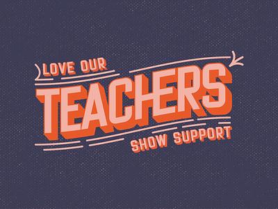 Love Our Teachers type typogaphy illustration logotype branding design identity design brand identity brand design logo design vector logo design graphic design