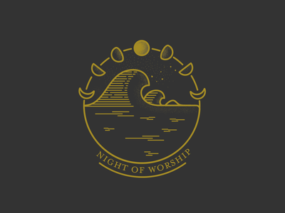 Night of Worship design monoline illustration vector illustration graphic design graphic vector art vector logo series art