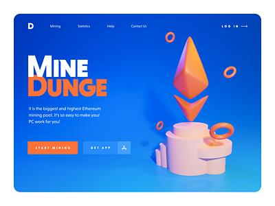 Website for mining service digital top shots 2020 desktop 3d blender ui mining ethereum crypto