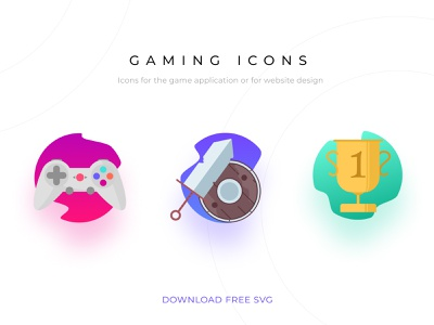Gaming Icons svg icons free svg freebie free iconset icons icon vector illustration ui design