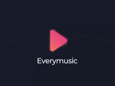 Animated loader for music app application top shots music music app loader app dark logo dark ui ui
