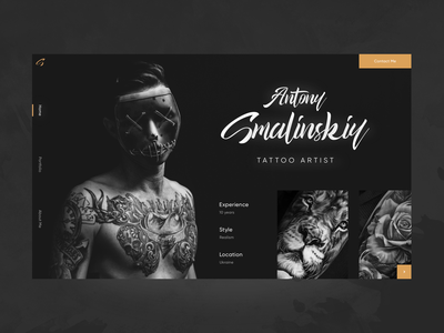 Tattoo desktop UI desktop ui top shots digital dark ui dark tattoo 2020