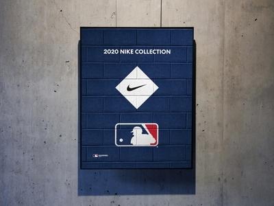 Nike + MLB 2020 Campaign Logo Lockup sports branding nike branding on-field fanatics apparel campaign mockup designer design creative lockup logo lockup logodesign pro sports baseball mlb logo nike