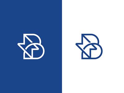 Bolt flat b startup electric power energy thunder bolt app illustration concept branding brand vector modern logo minimal identity design