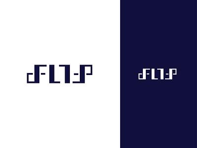 FLIP ambigram ambigram app flip flat illustration concept branding brand vector modern minimal logo identity design