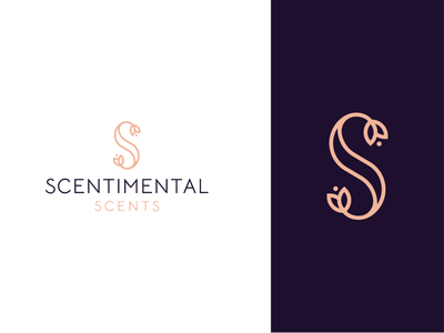 scentimental scents flower s illustration concept branding brand vector modern minimal logo identity design