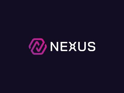 NEXUS illustration concept branding brand vector modern minimal logo identity design