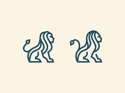 Lions lion animal app flat ui branding illustration brand modern minimal vector logo identity design