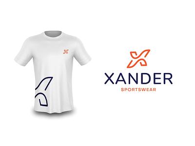 Xander Sportswear graphic design x sportswear sport flat branding ui illustration brand modern minimal vector logo identity design