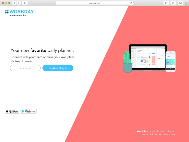 workday daily planner by leo spektor dribbble dribbble