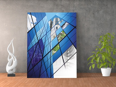 Blue Sky Buildings Cover engineering drawings environmentally friendly sustainability sky reflections brochure cover glass environmental industrial green buildings blue sky