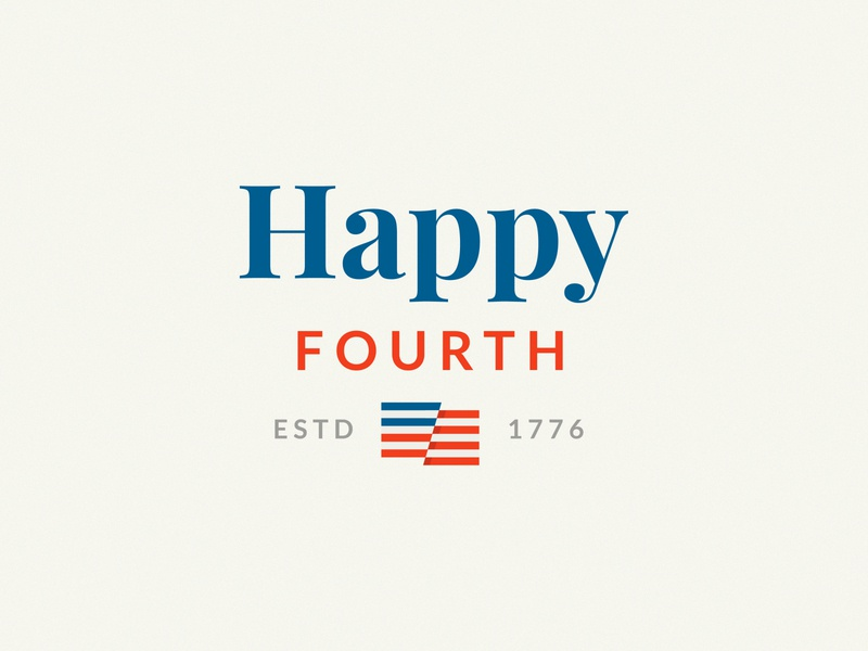Happy Fourth! 4thofjuly 4th of july usa flag flag logo logo design brand and identity typography branding