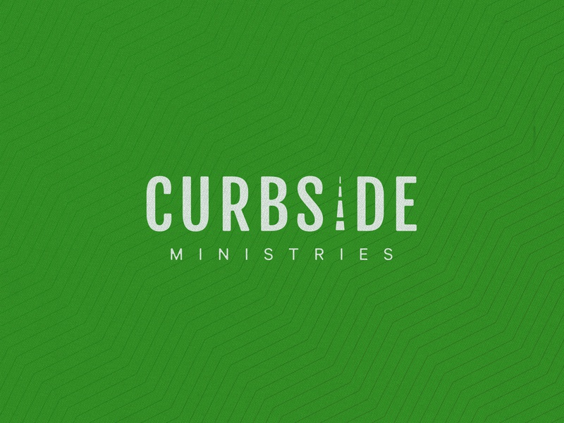 Curbside Ministries brand design logo design typography logo brand and identity branding